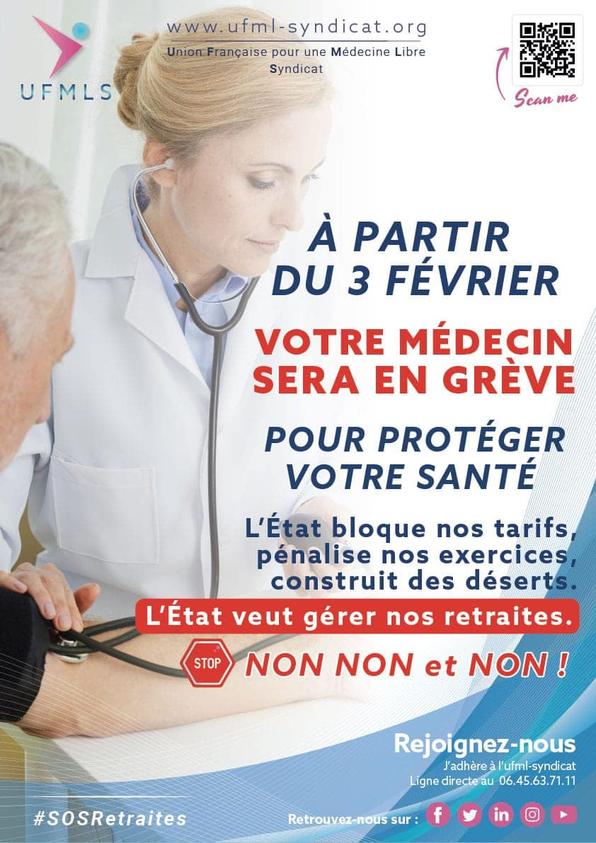 SOS retraites : grève du 3 février 2020, affiches pour vos salles d'attente