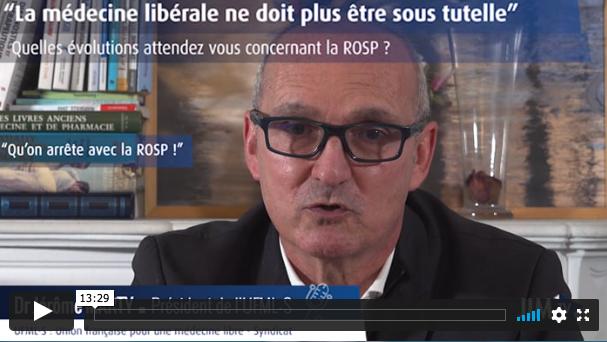 Medecine libérale sous tutelle JIM Jérôme Marty